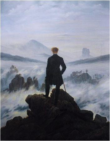 'Der Wanderer über dem Nebelmeer', Caspar David Friedrich, 1818