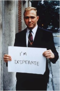 'I'm desperate' © Gillian Wearing, courtesy Maureen Paley/ Interim Art, London